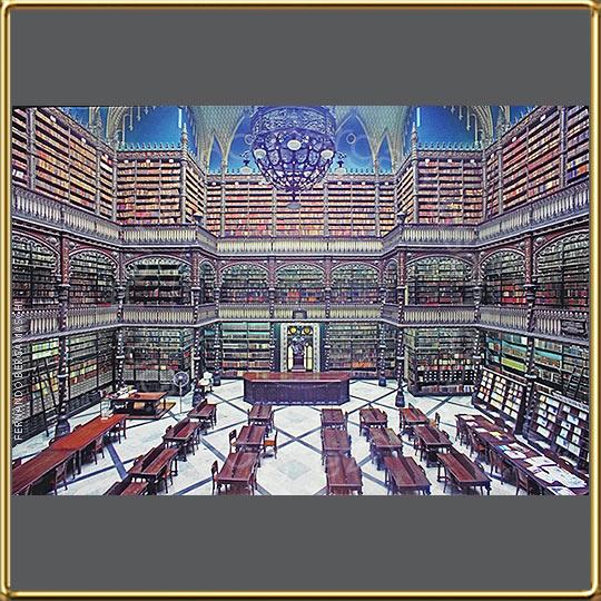 Real Gabinete Portugues de Leitura old library in Rio de ...
