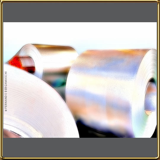 reels of steel sheet